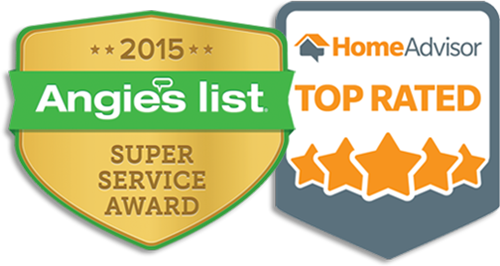 Home Advisor & Angie's List Super Service Award logos
